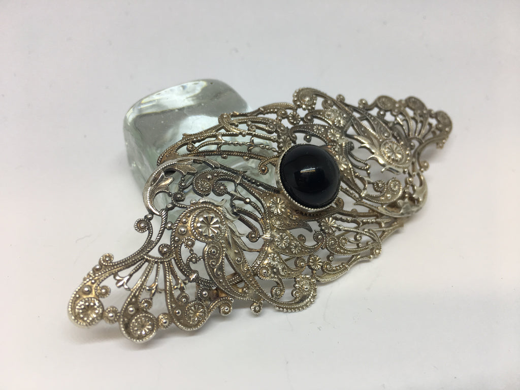 Jess Lelong SIlver Plated Brooch