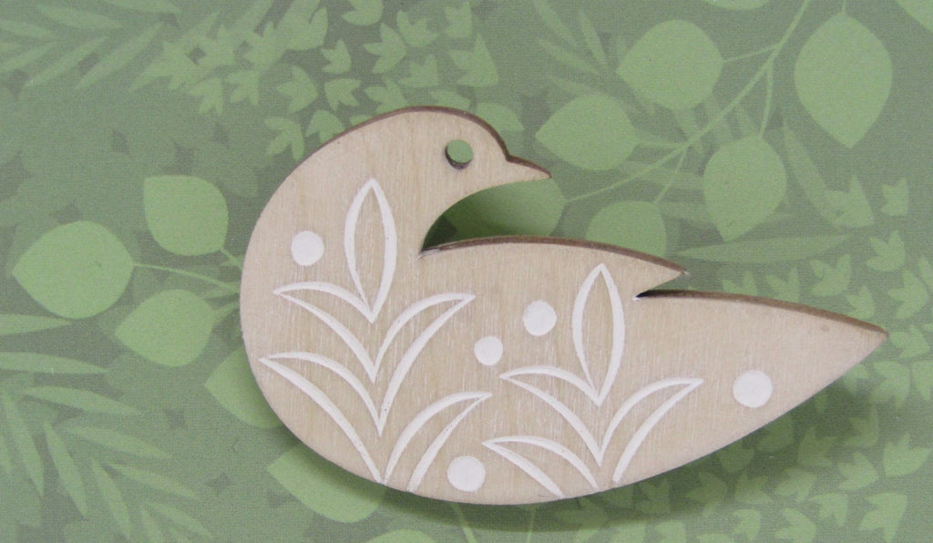 Pale Dove Brooch by Sarah Kelly
