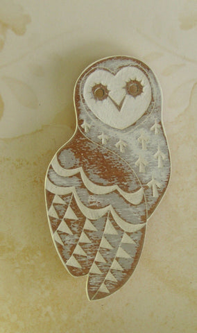 Grey Owl Brooch