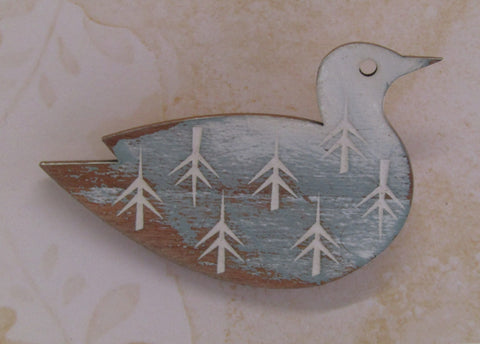 Painted Gull Brooch
