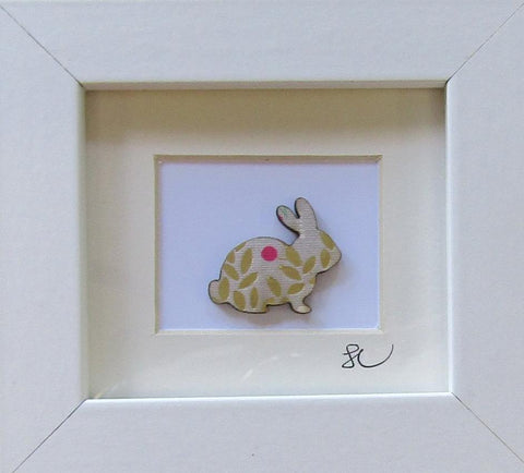 Rabbit - Framed Assemblage