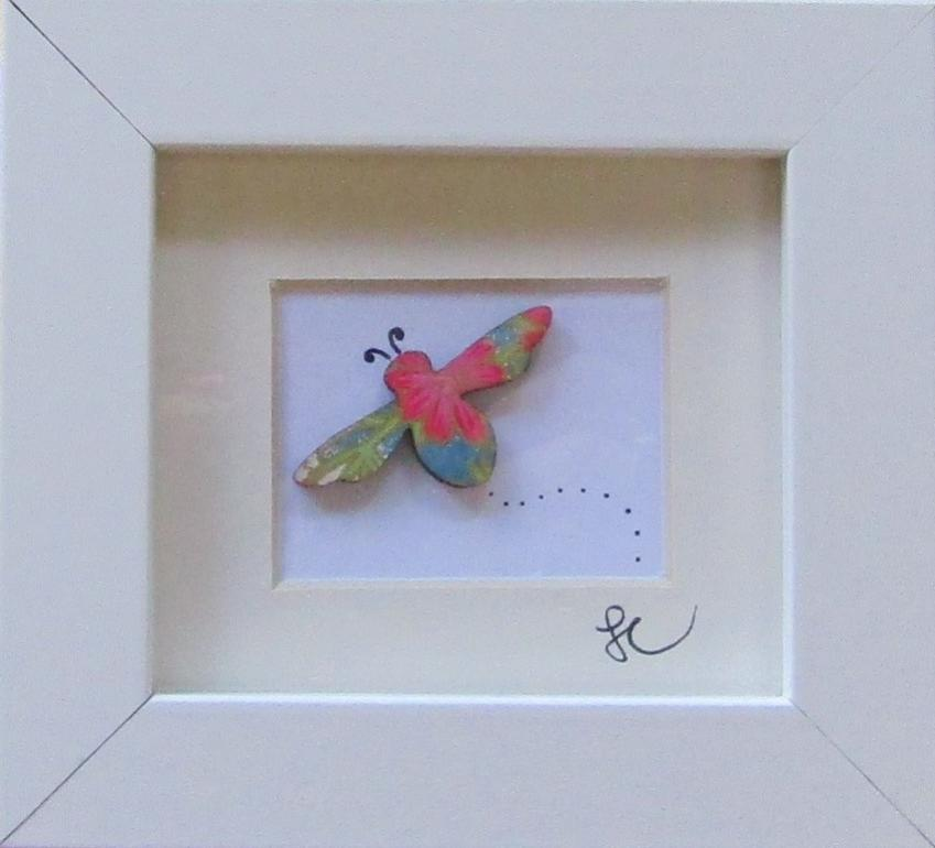 Floral Bee - Framed Assemblage by Sophie Court