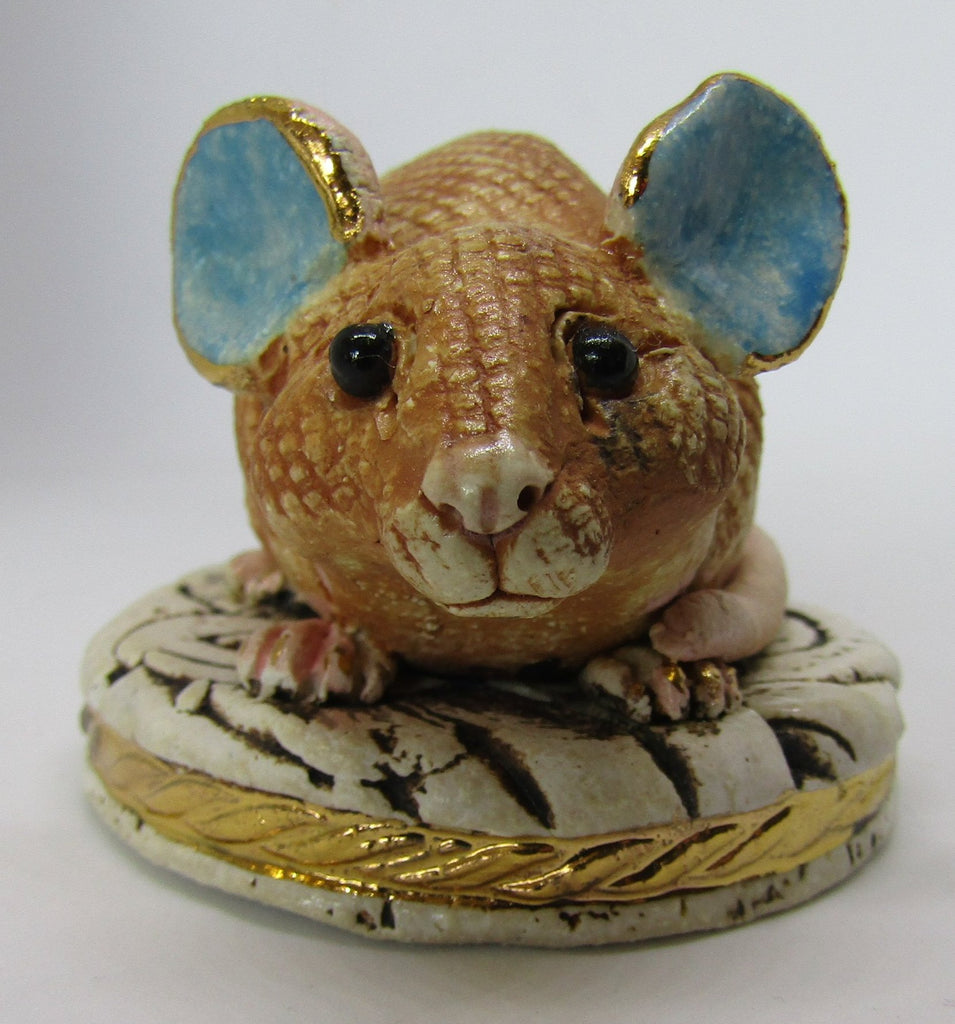 Small Mouse - Hand-Built Ceramic Sculpture by Gin Durham