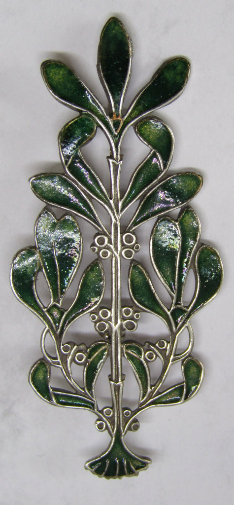 Mistletoe Brooch by Jess Lelong