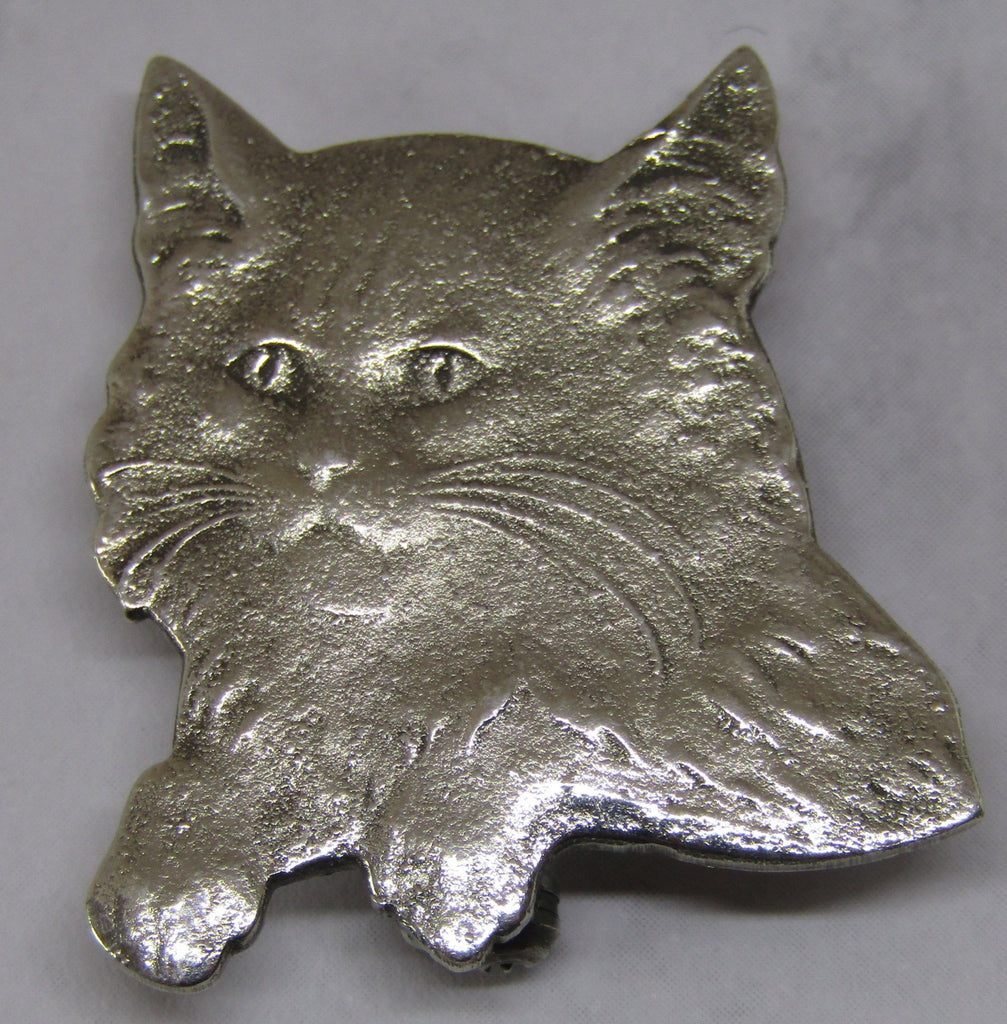 Cat Head and Shoulders Brooch by Jess Lelong