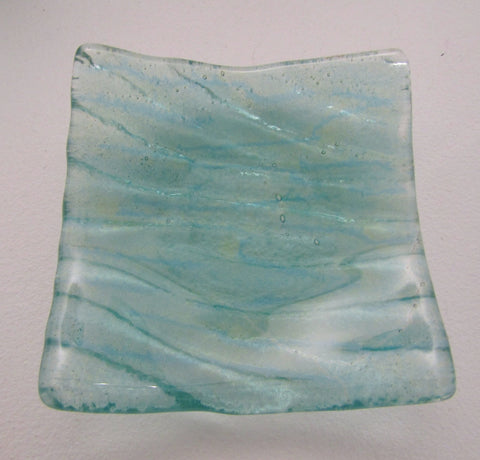 "Small Fused Glass ""Sea Bed"" Dish"