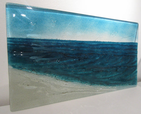 "Fused Glass ""Wave"" Panel"