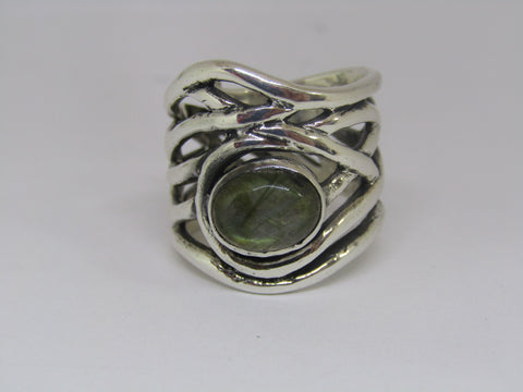 Mayhem Ring in Labradorite