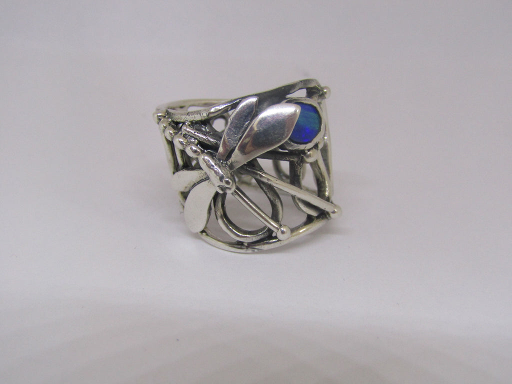 dragonfly ring by madeleine blaine with opal