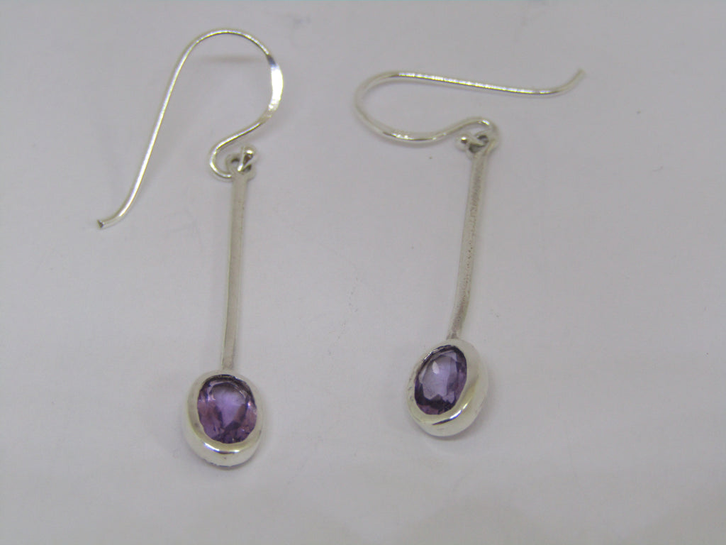 Sequola earrings with amethyst