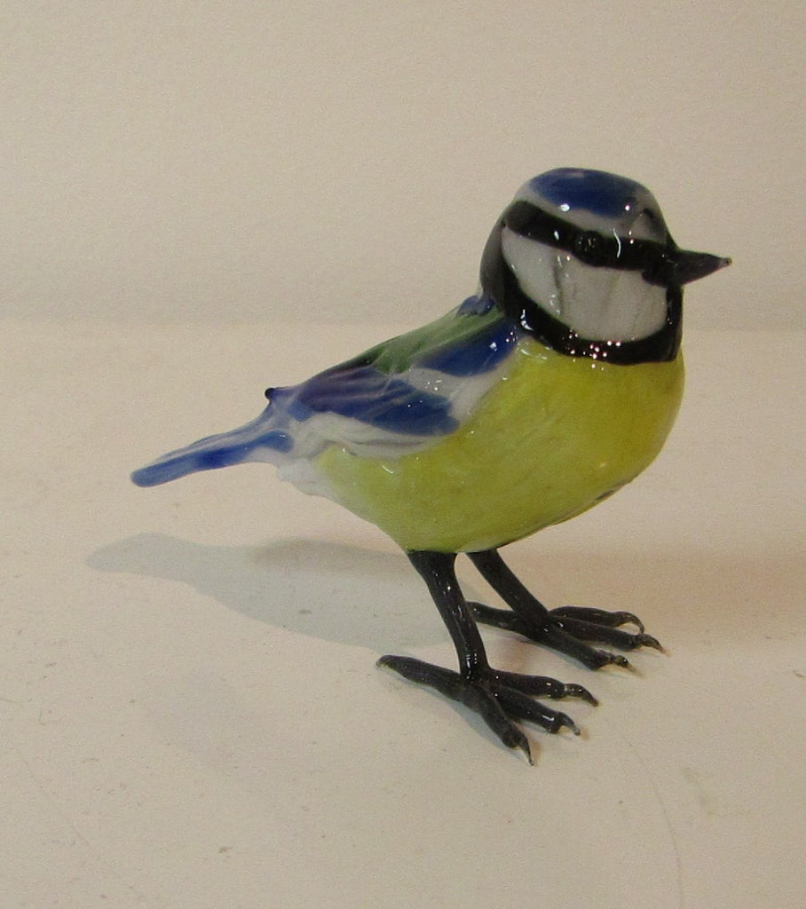 Glass Blue Tit by Sandra Young