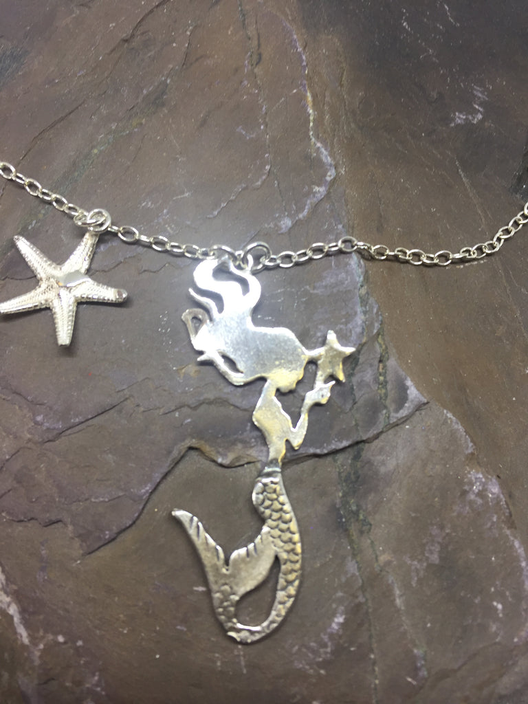 Sterling Silver Mermaid Necklace by Jesa Marshall