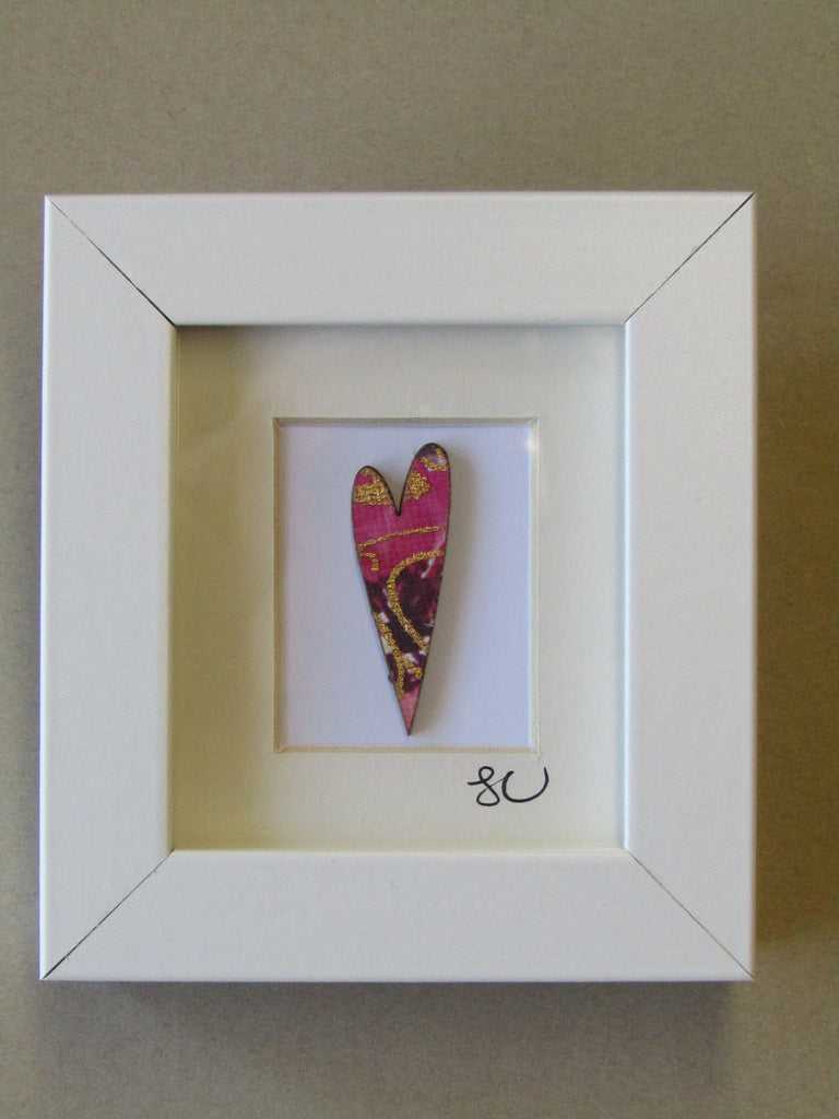 Love Heart - Framed Assemblage by Sophie Court