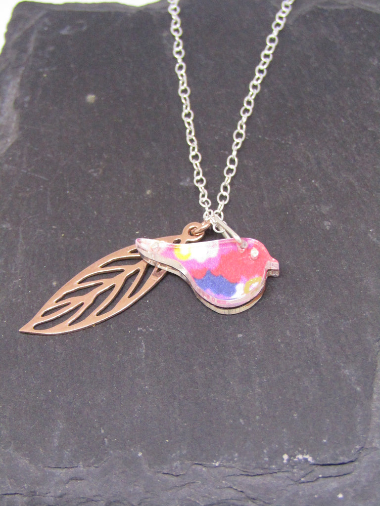 Robin & Rose Gold Leaf Reversible Necklace by Sophie Court