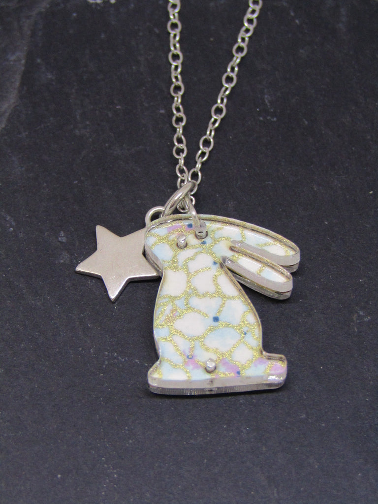 Rabbit Design Reversible Necklace by Sophie Court