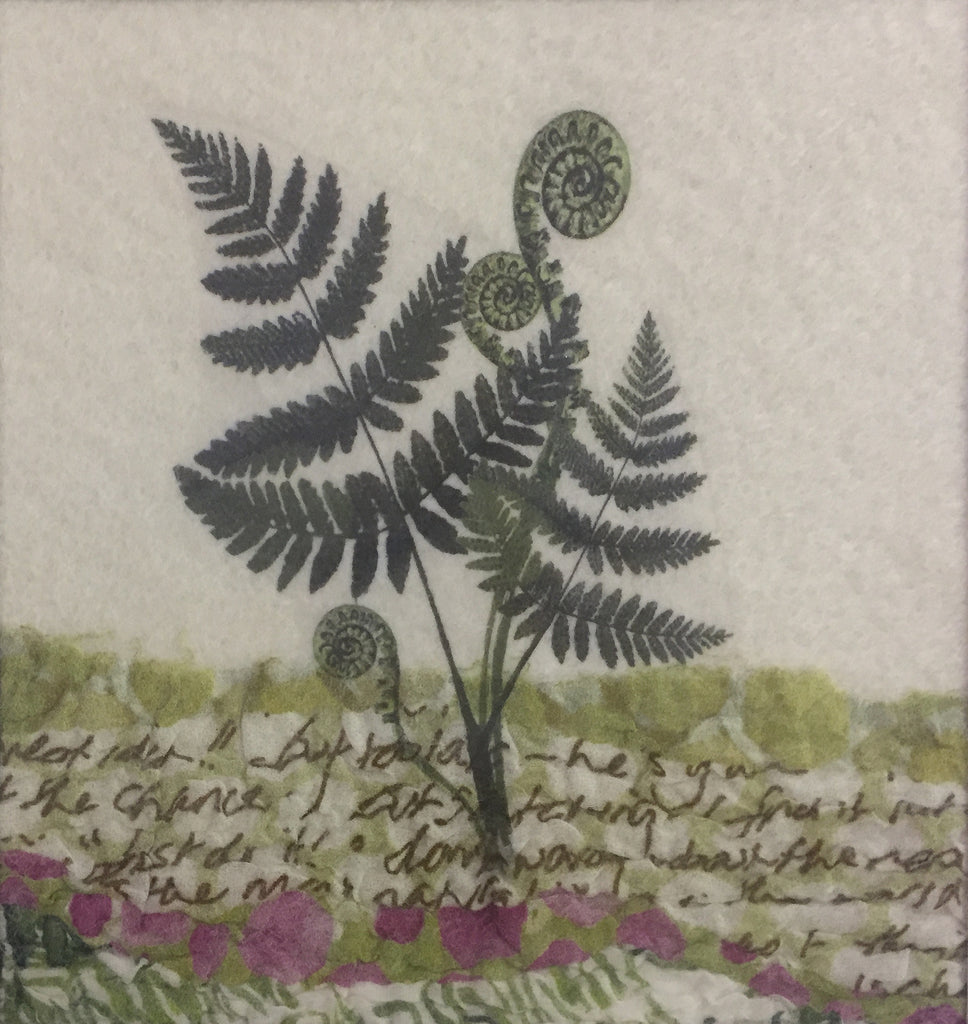 Ferns - textile art by Lindsey Tyson