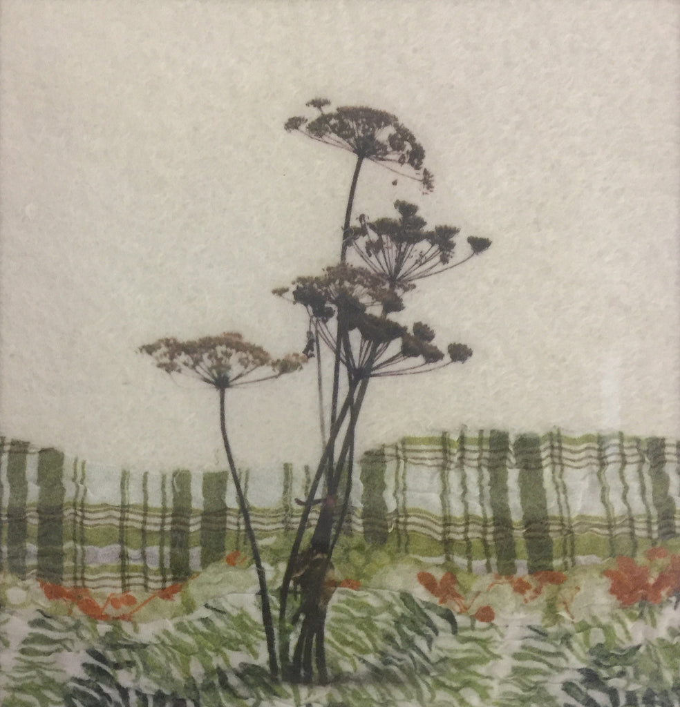 Hogweed - textile art by Lindsey Tyson