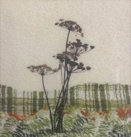 Hogweed I - textile art by Lindsey Tyson