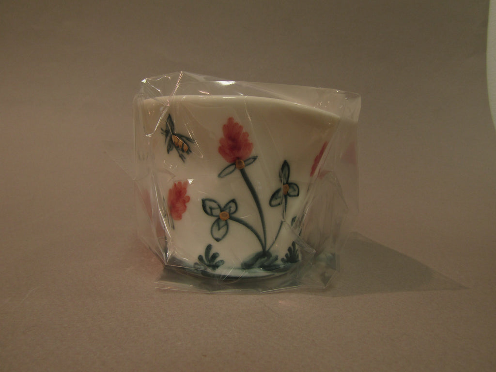 Filled Candle, Hand-Painted Porcelain by Mia Sarosi
