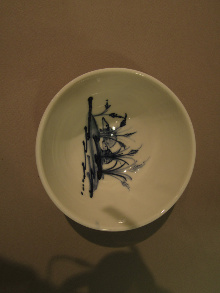 Hedgehog Design Tiny Bowl, Hand-Painted Porcelain by Mia Sarosi