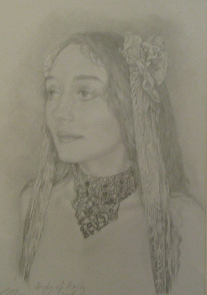study of emily ii original drawing