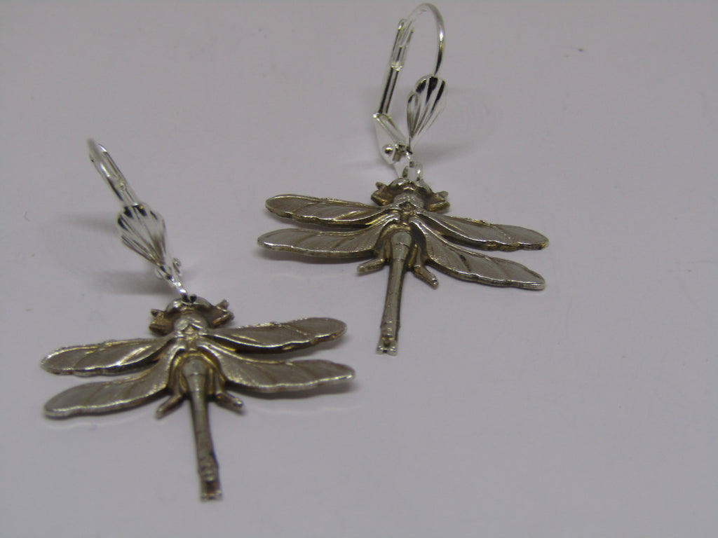 Dragonfly Dangle Earrings by Jess Lelong