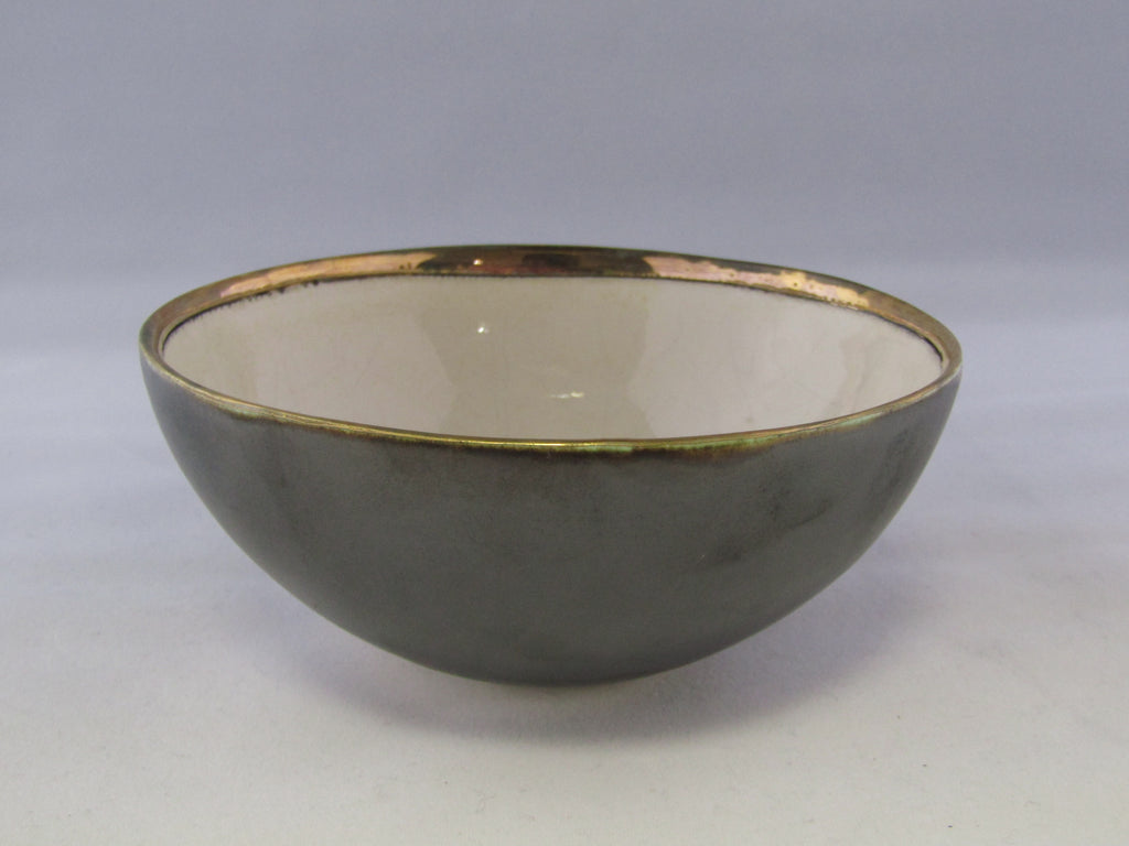 Small Grey and Cream Bowl with Gold Heart