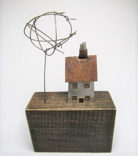 House and Wire Tree by Sarah Jane Brown