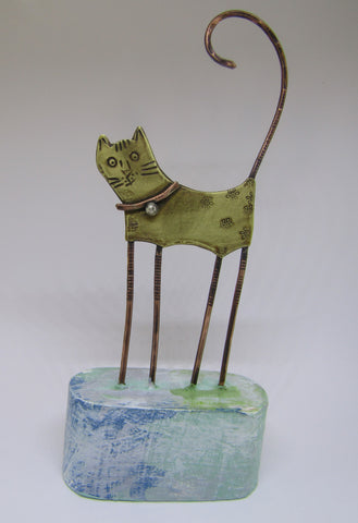 Brass Cat by Frances Noon