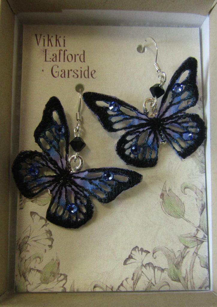 Skeletal Butterfly Earrings by Vikki Lafford Garside