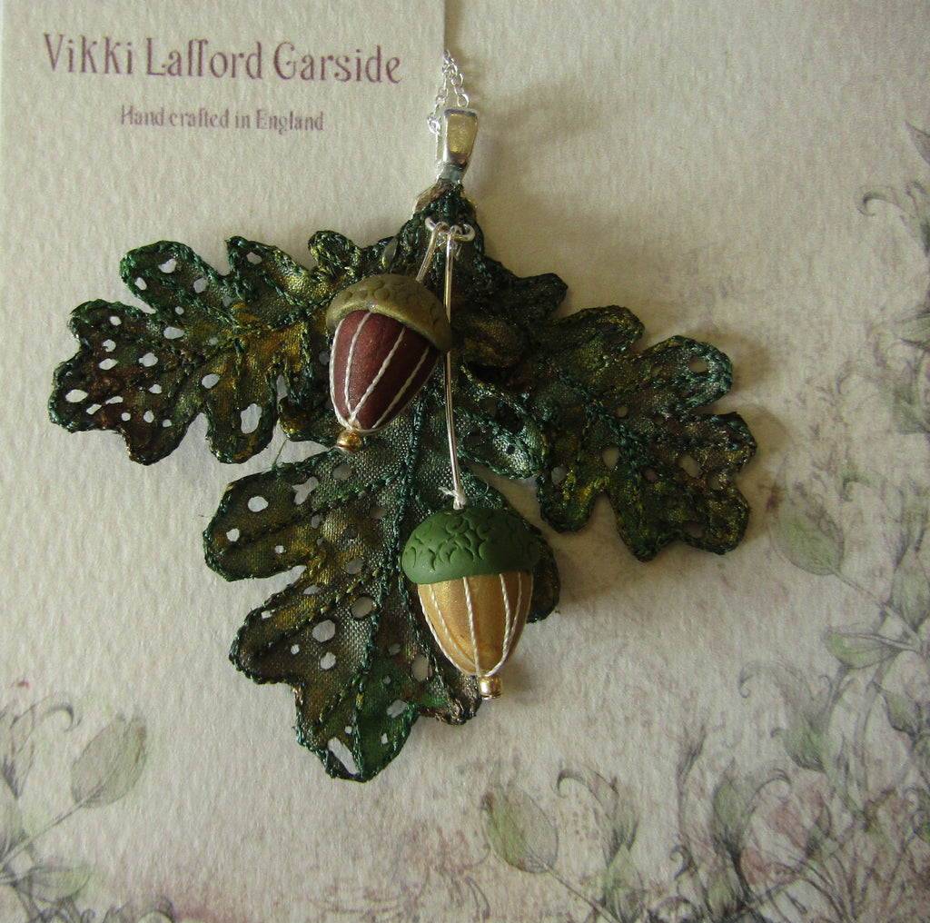 Oak Leaf and Acorn Pendant by Vikki Lafford Garside
