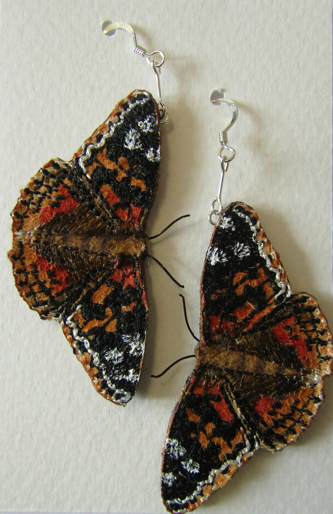 Painted Lady Butterfly Earrings by Vikki Lafford Garside