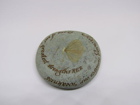 """Allowing ourselves our weakness..."" Hand Painted Stone"