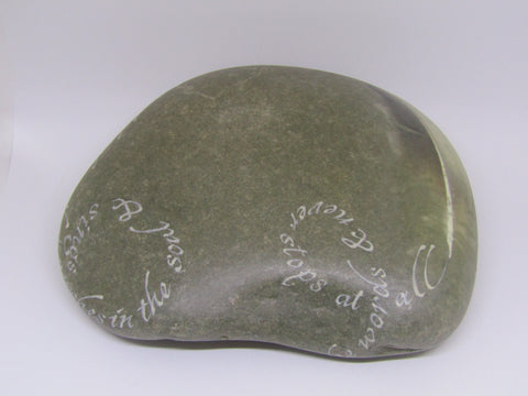 """Hope is the thing with feathers..."" Hand Painted Stone by Alexis Penn Carver"
