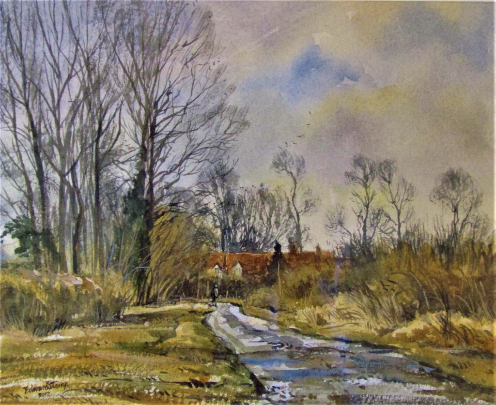 Lane at Hulcott by Edward Stamp
