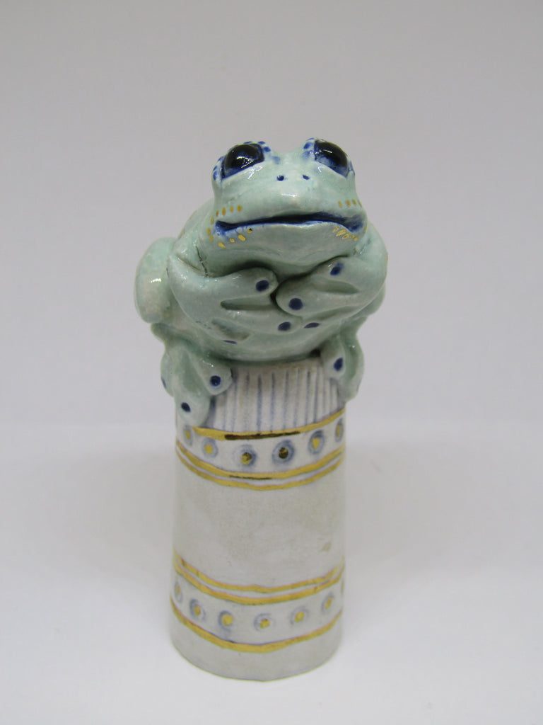 small frog ceramic sculpture by gin durham