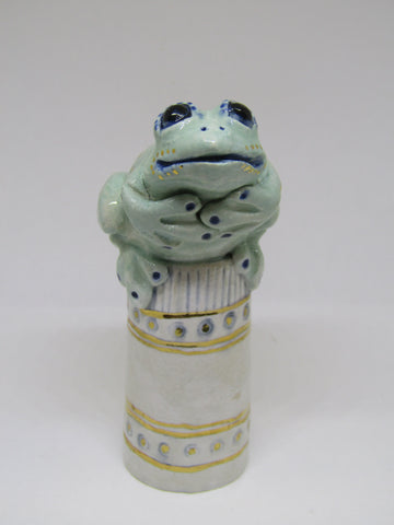 Small Frog - Hand-Built Ceramic Sculpture by Gin Durham