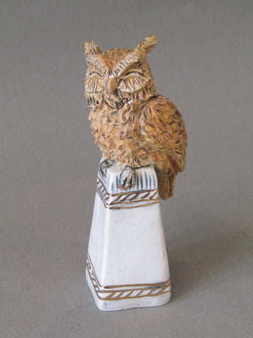 Mini Owl - Hand-Built Ceramic Sculpture by Gin Durham