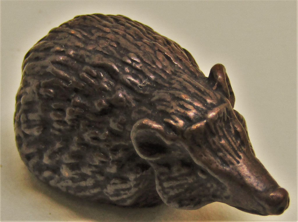 hedgehod bronze miniature by david meredith