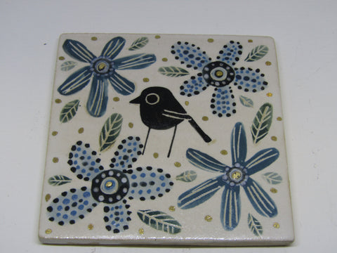 Small Lustre Ceramic Tile by Karen Risby