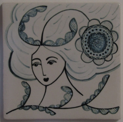 Large Ceramic Tile by Karen Risby