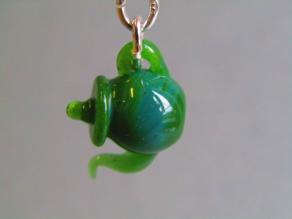 Tiny Emerald Green Teapot Pendant