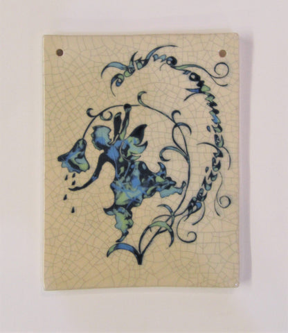 "Fairy Design Rectangular Ceramic Tile ""Believe in Who You Are""."