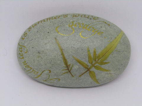 """A Fallen Leaf..."" Hand Painted Stone by Alexis Penn Carver"