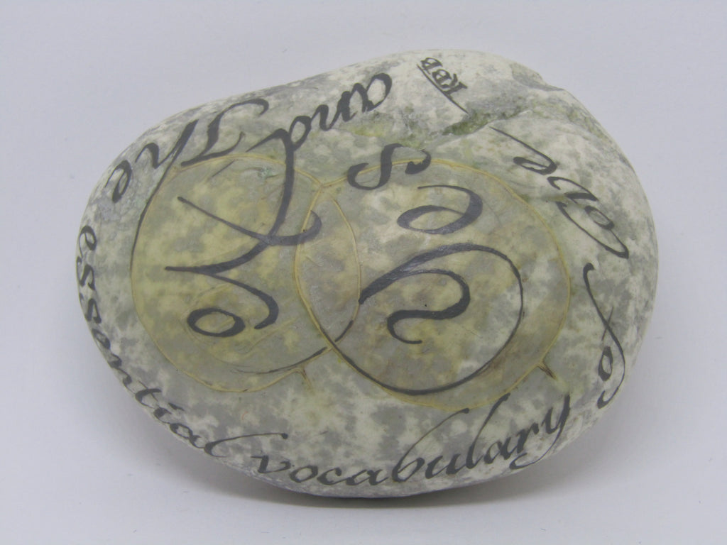 """Essential Vocabulary of Love"" Hand Painted Stone by Alexis Penn Carver"