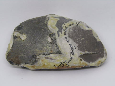 """All Good Things are wild and free..."" Hand Painted Stone by Alexis Penn Carver"