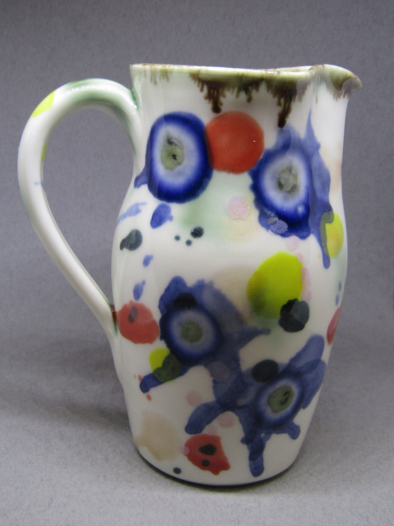 Firework Design Small Porcelain Jug by Mia Sarosi