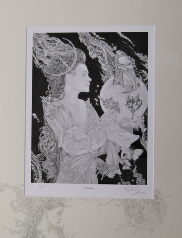 'La Luna' - #1 print with hand drawn detailing by Ed Org