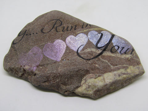 """Your Heart Knows the Direction..."" Hand Painted Stone by Alexis Penn Carver"