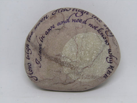"""How High the Moon"" Hand Painted Stone by Alexis Penn Carver"